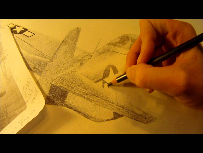 1440x1080 P 51 Mustang Speed Drawing