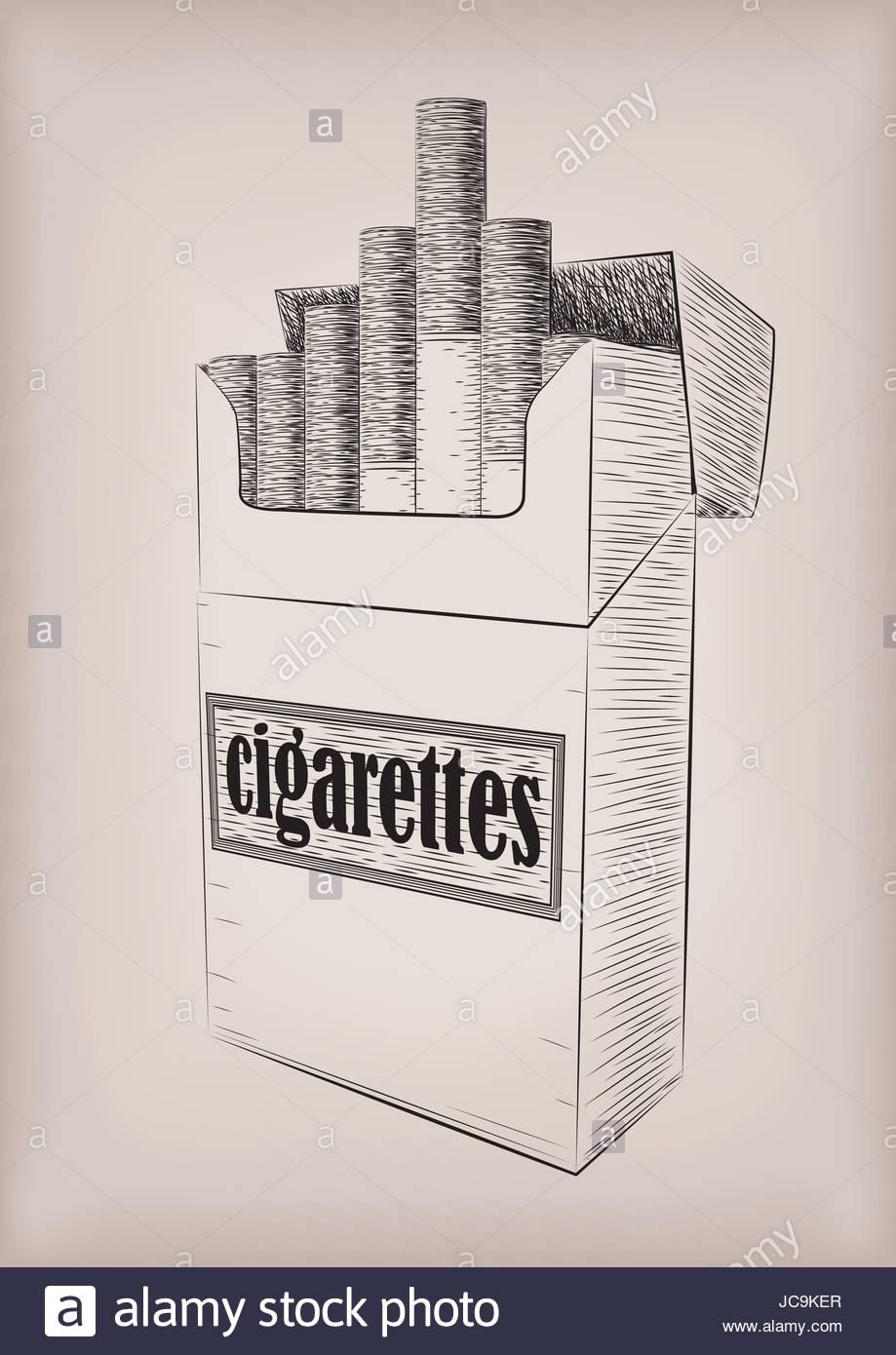 919x1390 Cigarettes Cigarette Pack Cardboard Box Full Smoking Sign