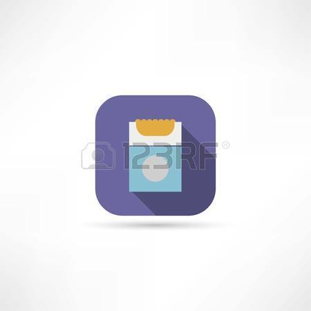 450x450 Sketch Of The Cigarettes Pack On White Background, Isolated