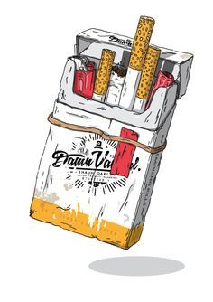 236x334 Cigarette Pack Drawing