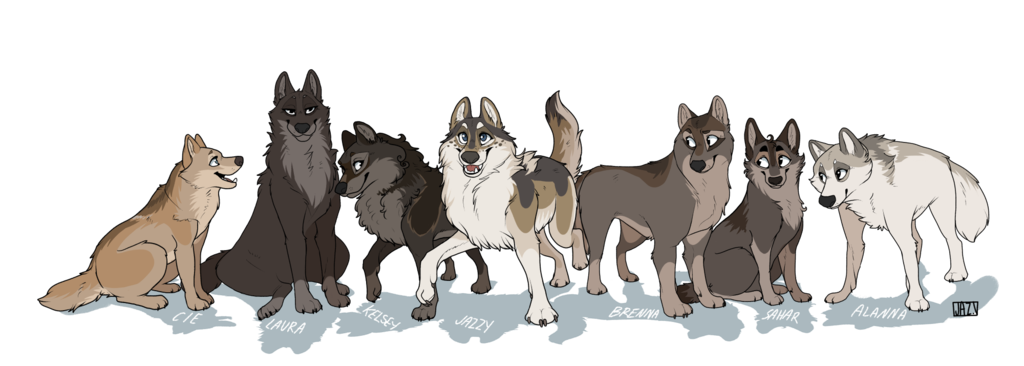 Pack Of Wolves Drawing At GetDrawings