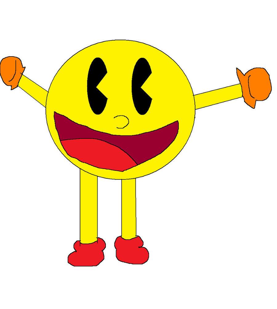 900x1006 Pac Man Drawing By Ajpokeman