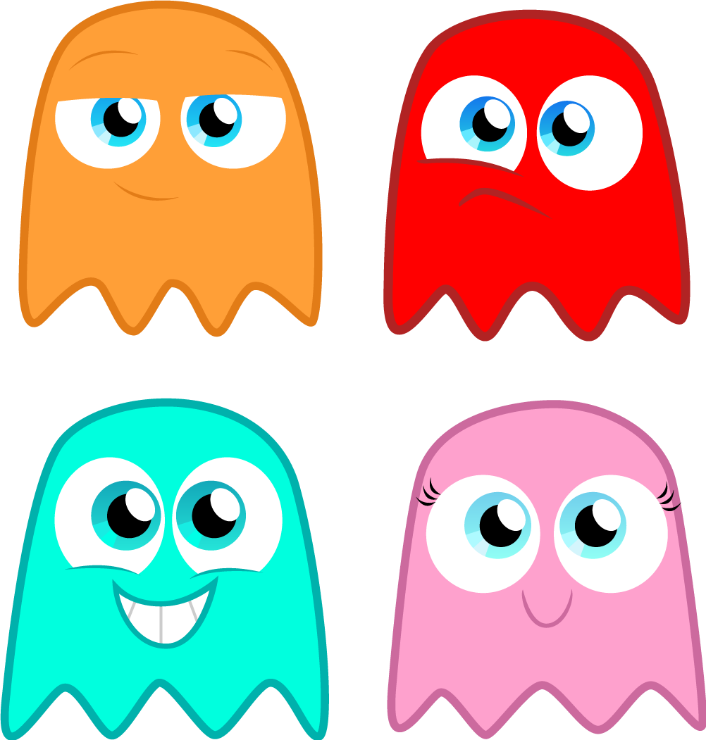 1002x1051 Modest Pacman Printables The Pac Man Ghosts By Com