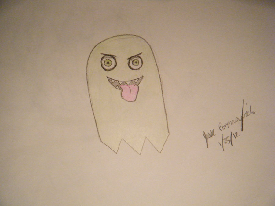 900x675 Pac Man Ghost Drawing 4 By Gtpr0
