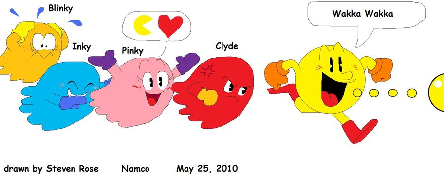 900x354 Pac Man And The Ghosts By Coconutstevio92