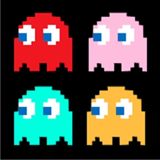 It is a picture of Candid Pictures of Pacman Ghosts