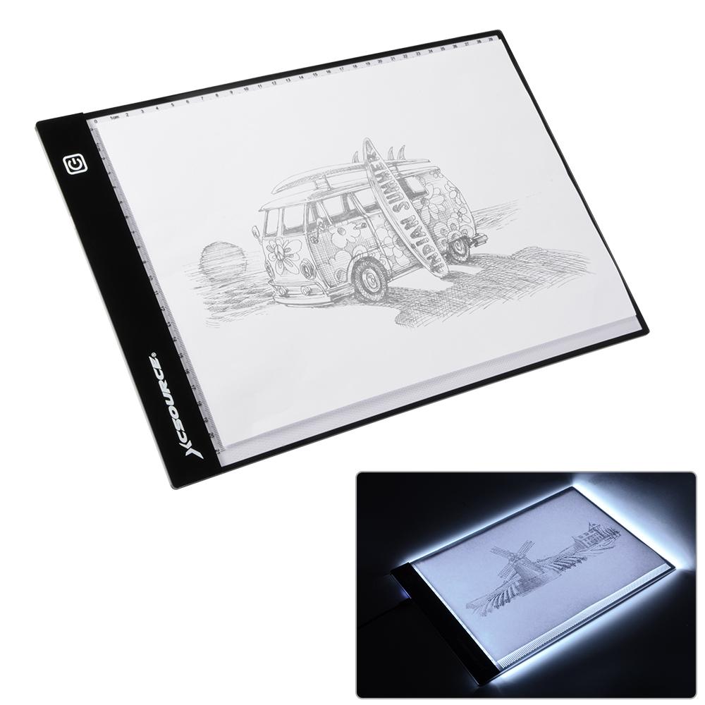 1000x1000 A4 Led Tracing Slim Copy Board Tracer Pad Drawing Light Box Tattoo
