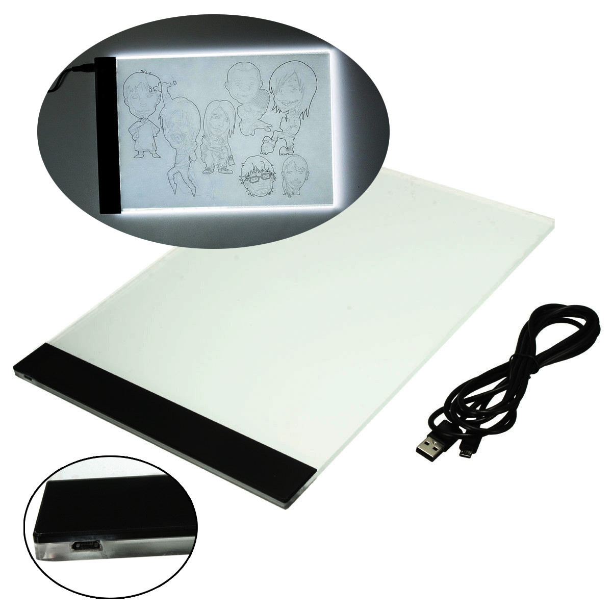 1200x1200 Quality Pratical 4mm Ultrathin A4 Led Light Pad Copy Pad Drawing