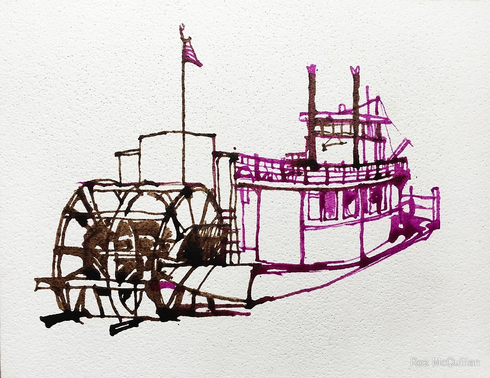 1000x772 Paddle Wheel Steam Boat