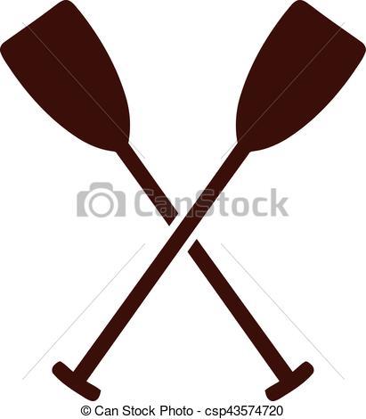 411x470 Crossed Paddles Vector Illustration