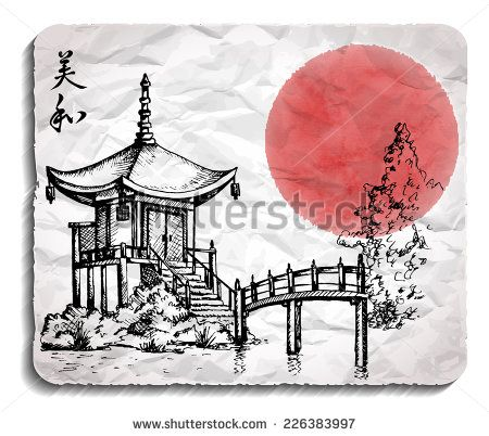 450x402 Chinese Architecture Drawing Pagoda Drawing Chinese Pagoda By