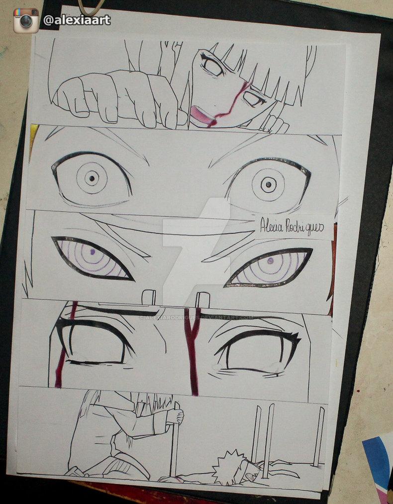 790x1012 Naruto Scene (Naruto And Hinata Vs Pain) Wip By Alexiarodrigues