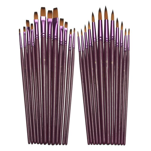 640x640 12pcslot Different Size Artist Fine Paint Brush Pen Set