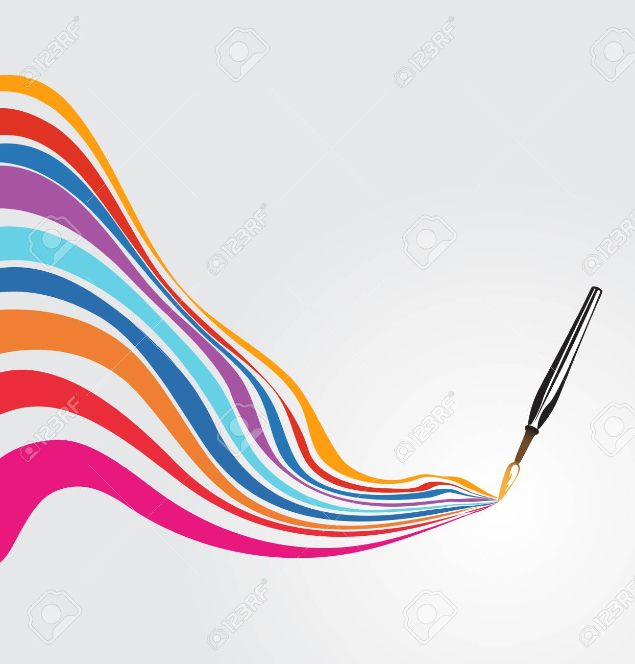 1244x1300 Paintbrush Drawing A Rainbow Royalty Free Cliparts, Vectors,