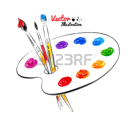 450x408 Artist Palette Stock Photos. Royalty Free Business Images