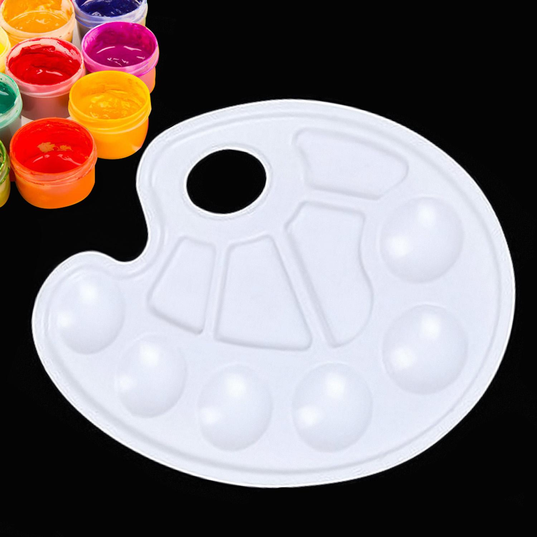 1500x1500 Behogar 10pcs White Art Paint Plastic Drawing Tray Color Palette