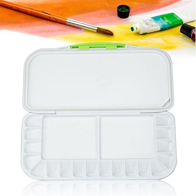 640x640 Elecool Professional 18 Well Plastic Palette Watercolor Palette