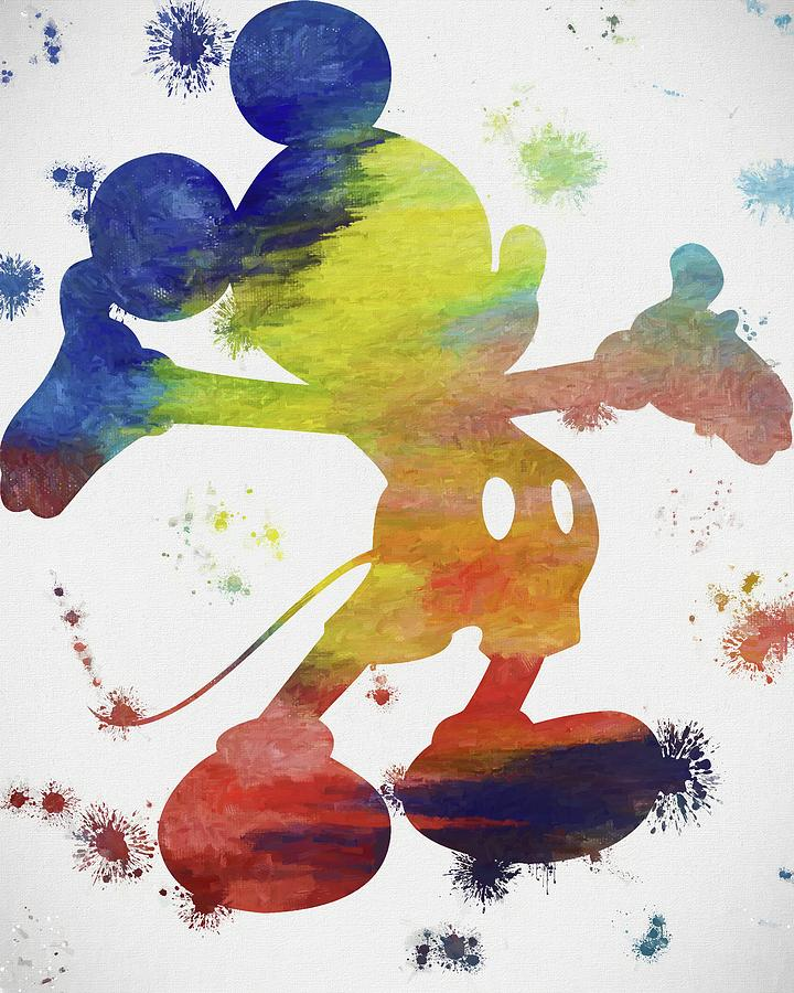 Free Paintings Coloring Mickey Mouse