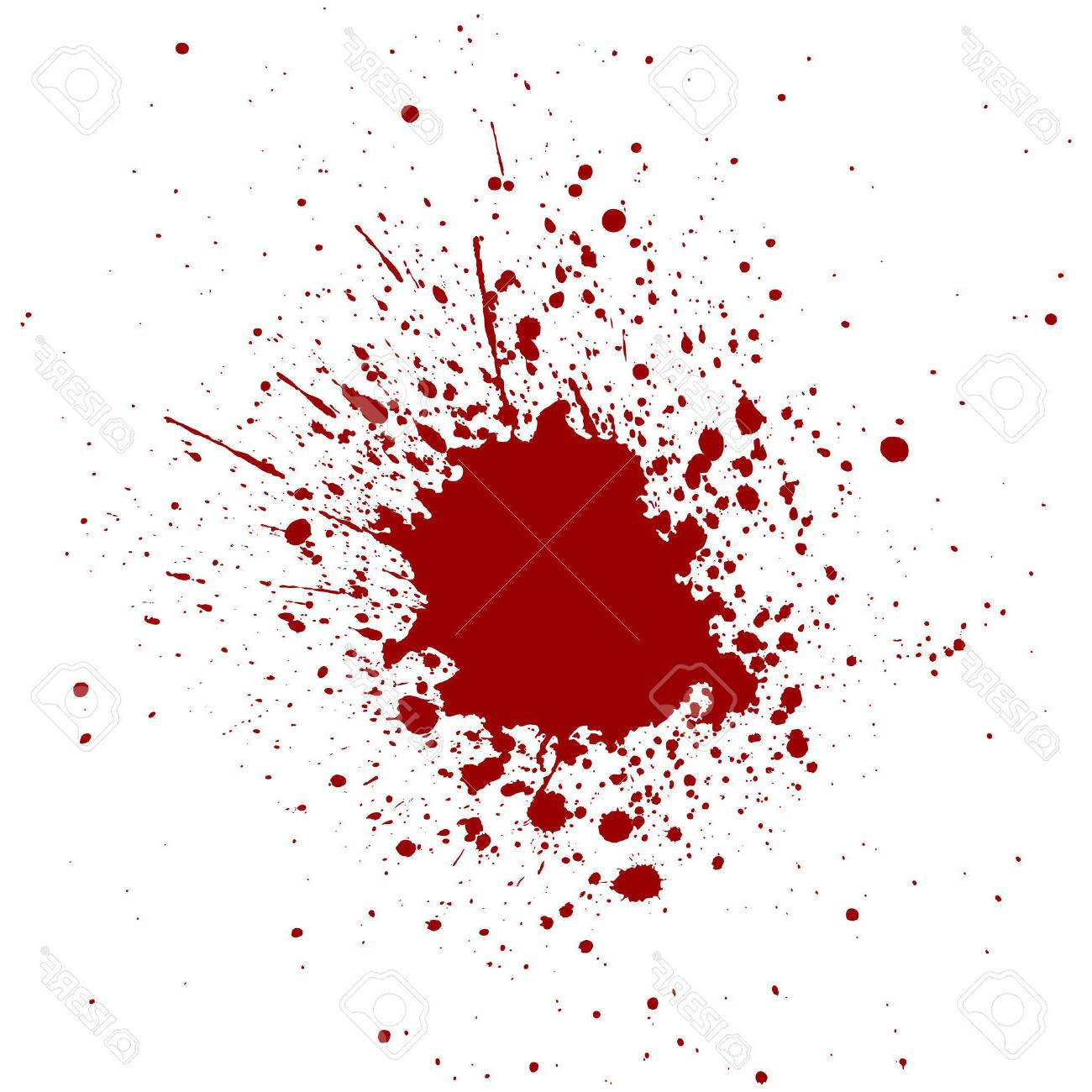 1300x1300 HD Abstract Splatter Red Color Background Stock Vector Blood Paint