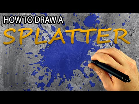 480x360 How To Draw A Paint Splatter (Corel Painter Tutorial) [Draw This