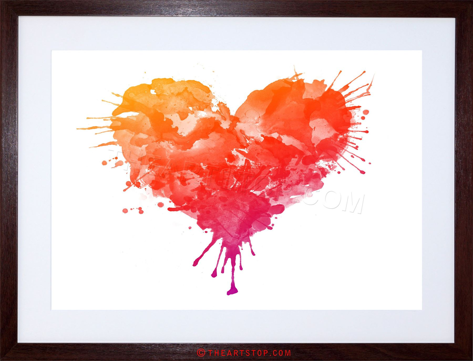 1800x1374 PAINTING DRAWING PAINT SPLASH LOVE HEART STYLE FRAMED PRINT