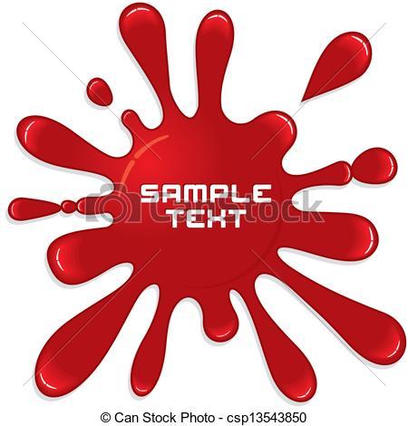 450x470 Red paint splash. vector illustration clipart vector