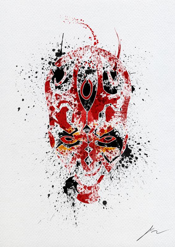 566x800 STAR WARS Paint Splatter Art GeekTyrant