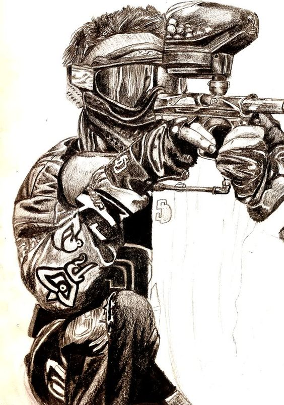 564x804 Hardcore Woodsballer (Not My Drawing) Paintball
