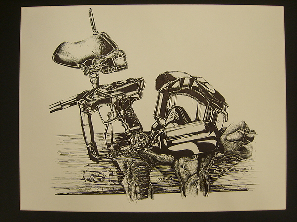 600x449 Paintball Drawing By Rogelio Rodriguez
