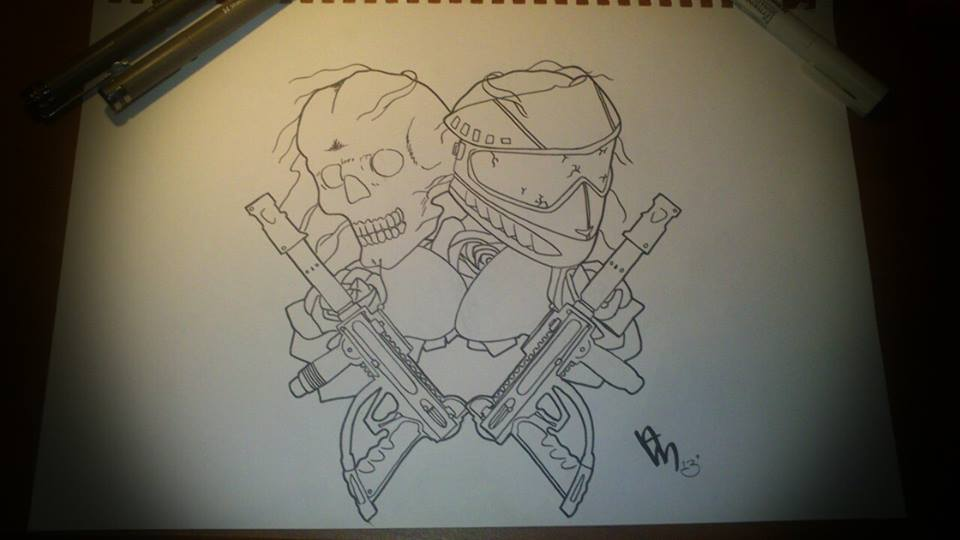 960x540 Paintball Skull And Mask Design By Amberjacquii
