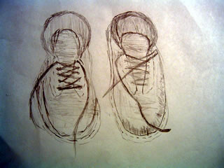 320x240 A Drawing Each Day Old Pair Of Shoes