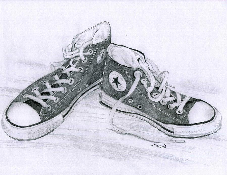 900x694 Converse Pencil Tonal Drawing High School Art