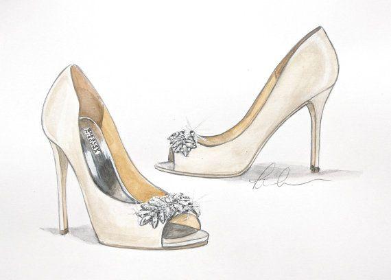 570x408 Introducing Custom Fashion Shoe Illustrations! Shoe By Badgley
