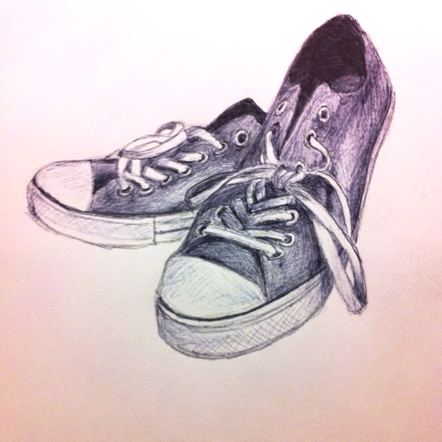 640x640 Tonight's Sketch My Favorite Pair Of Shoes. G Nix Creative