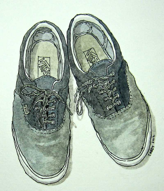 549x640 An Old Pair Of Shoes Sketch Croquis Van, Shoes