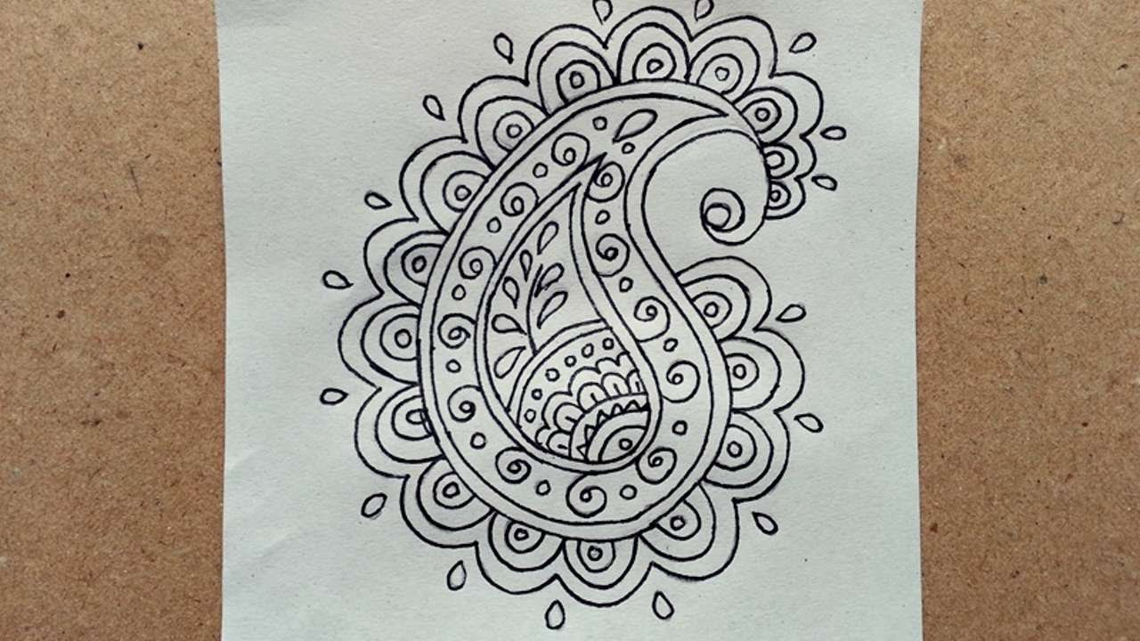1280x720 How To Draw A Simple Doodle Paisley