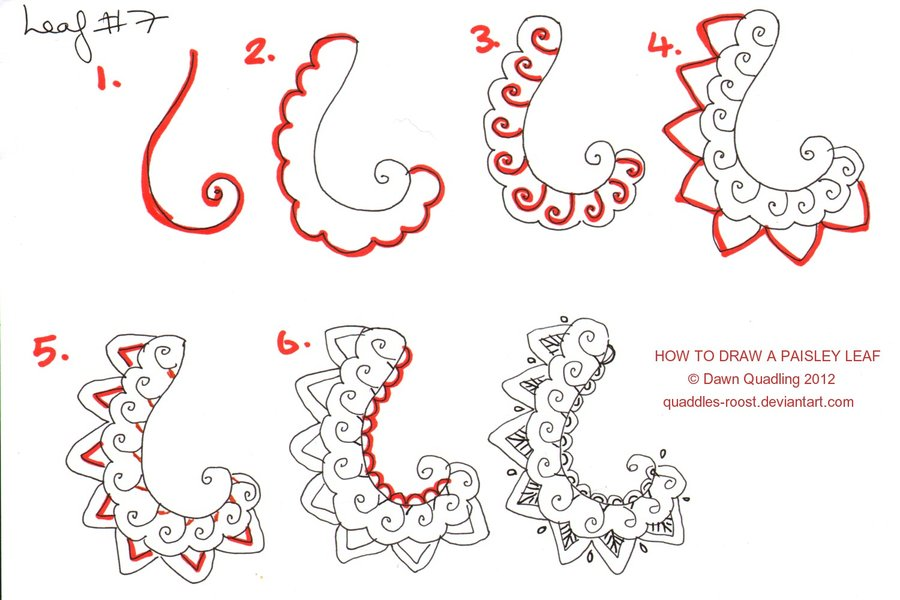 900x600 How To Draw Paisley Leaf 07 By Quaddles Roost