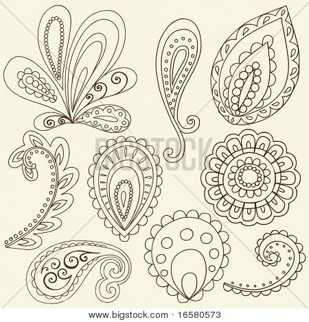 450x470 How To Draw Paisley Hand Drawn Abstract Henna Paisley Vector