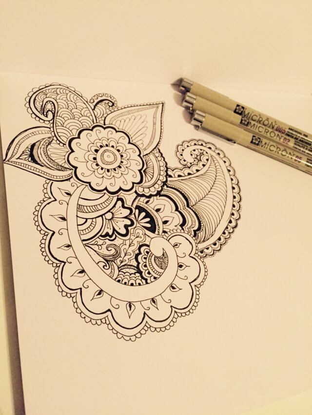 640x852 Paisley Drawing! Doodle Paisley Drawing, Doodles