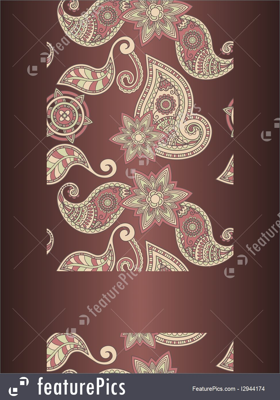 974x1392 Abstract Patterns Vector Frame For Your Text On Seamless Hand