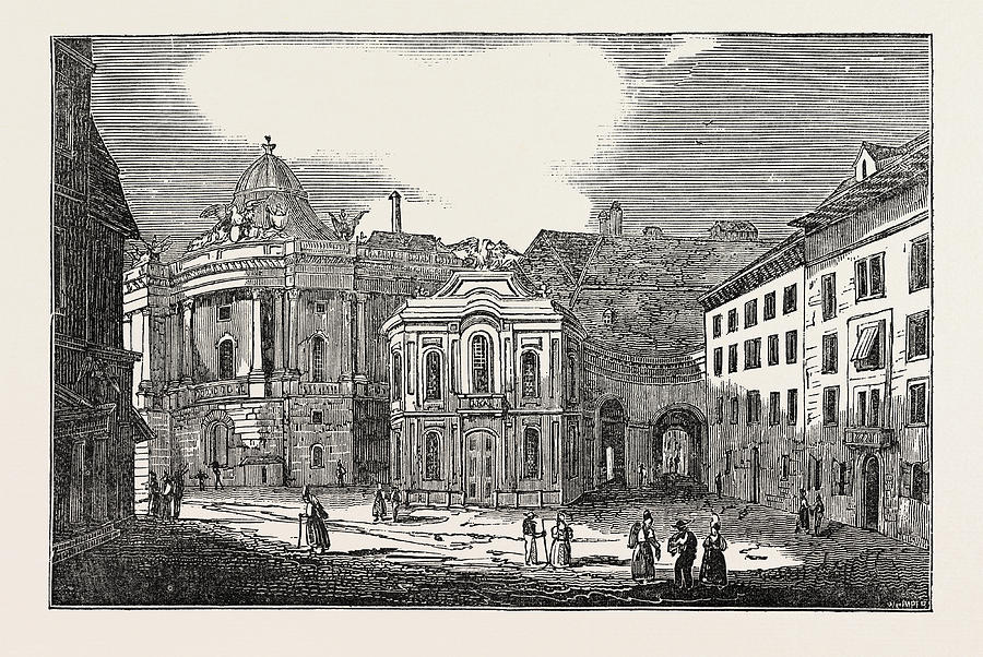 900x602 St. Michaels Place, And The Imperial Palace Drawing By Austrian School