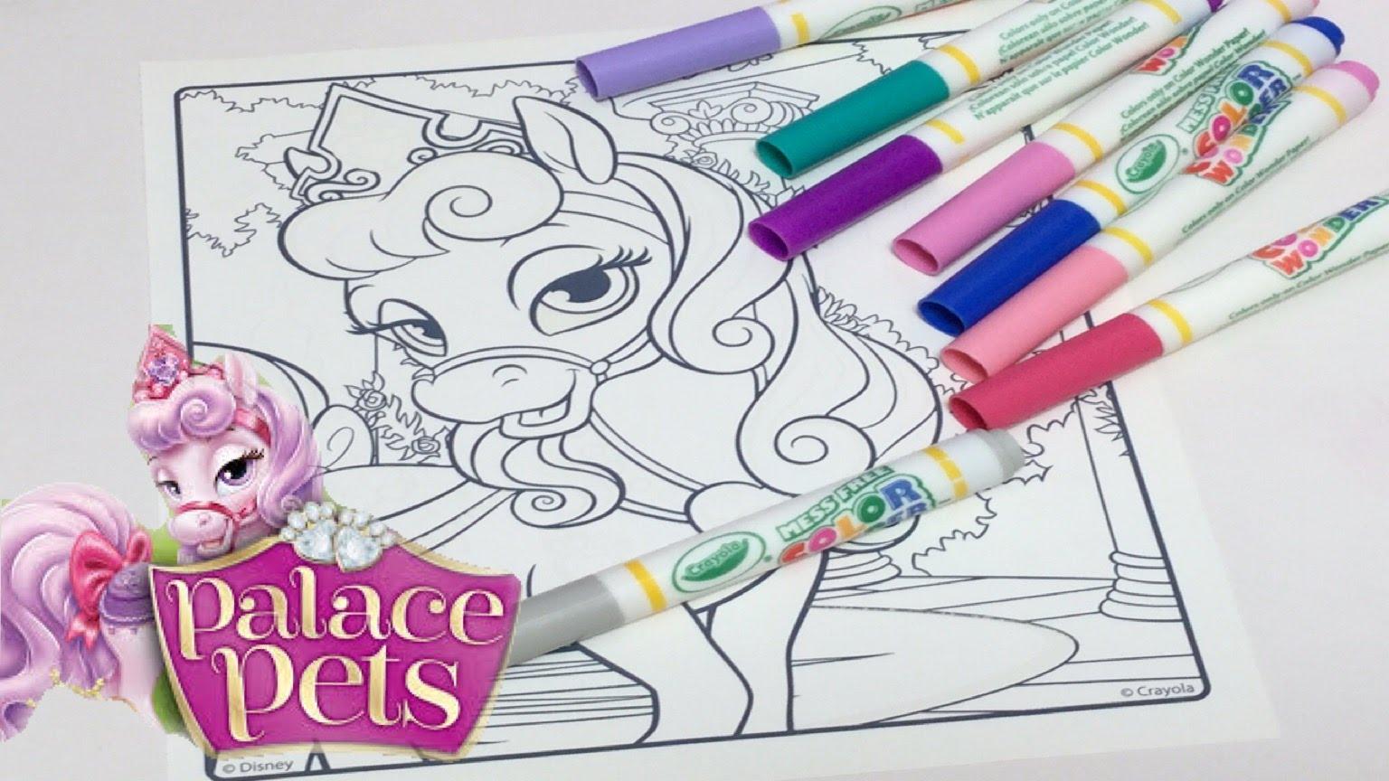 1536x864 Coloring In Disney Palace Pets BLOOM Princess Aurora Pet