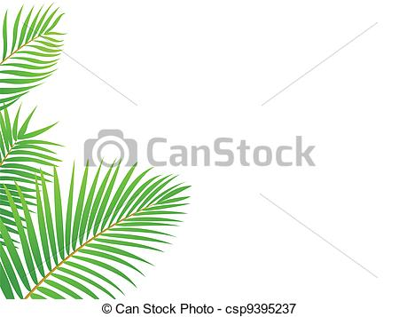 450x357 Vector Illustration Of Palm Tree Frame Background Vectors