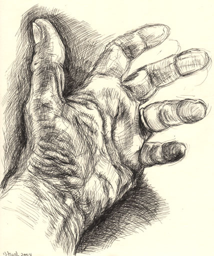 428x512 Drawing Of My Left Hand