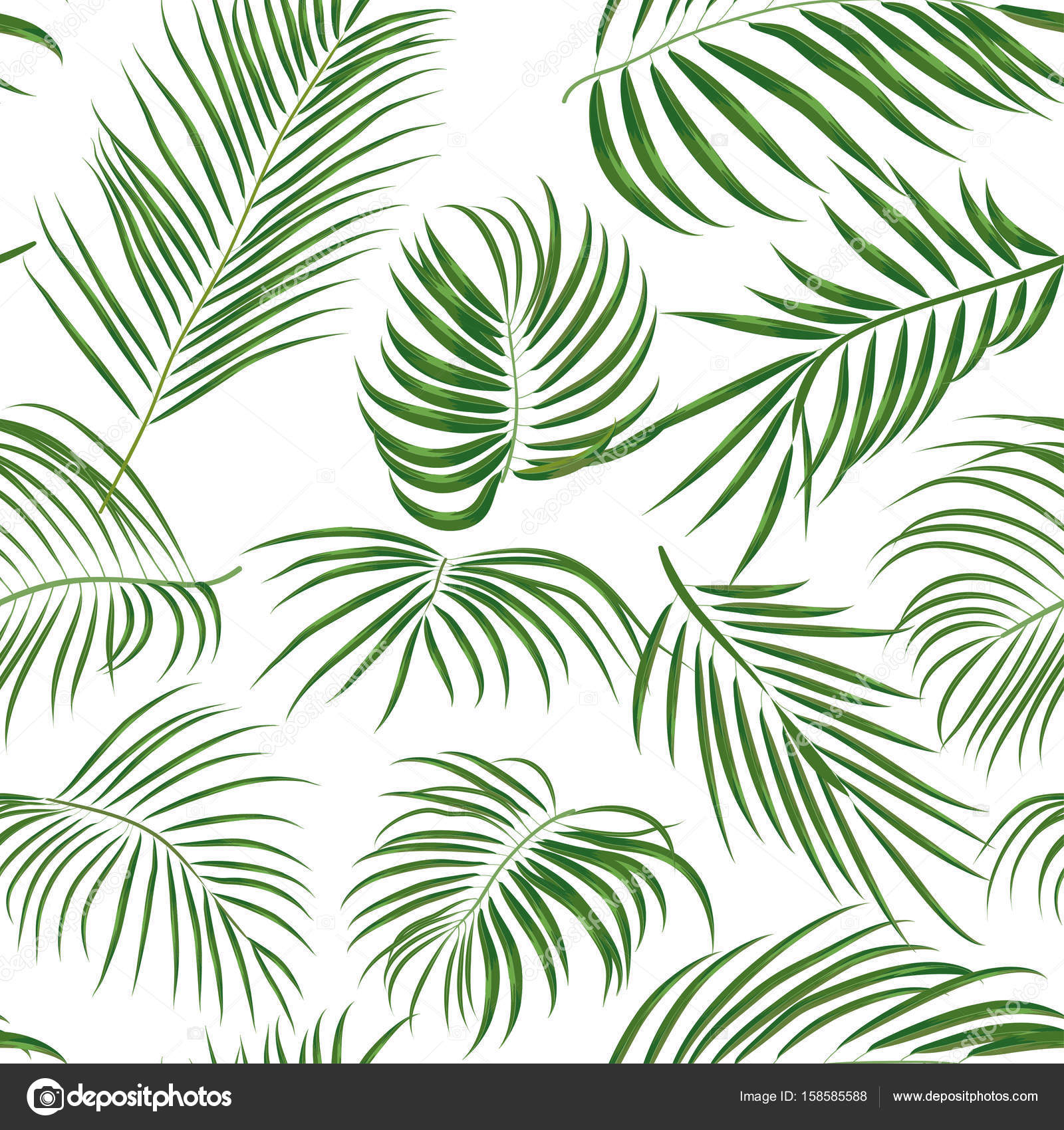 1600x1700 Seamless Hand Drawn Tropical Pattern With Palm Leaves, Jungle