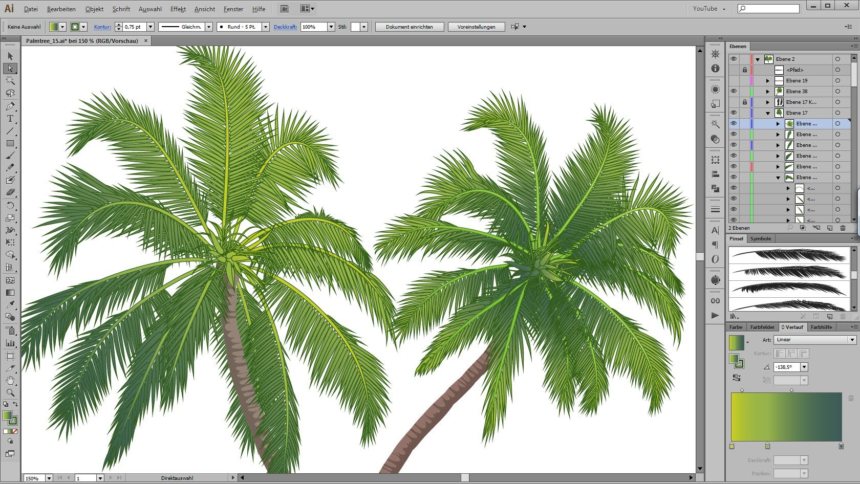 Palm Leaves Drawing at GetDrawings.com | Free for personal use Palm ...