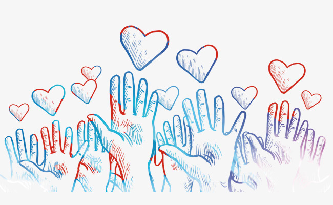 650x400 The Heart And The Palm Of Hand Drawn Cartoon, Cartoon Hand Drawing