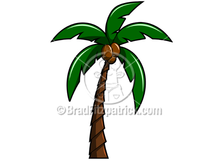 432x324 Illustration Of A Cartoon Palm Tree Graphic