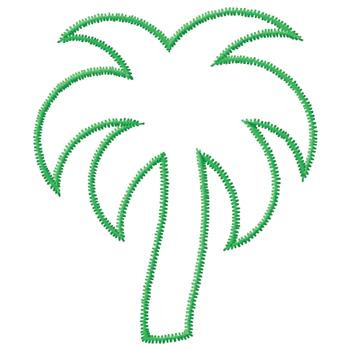 350x350 Palm Tree Outline Embroidery Design Annthegran