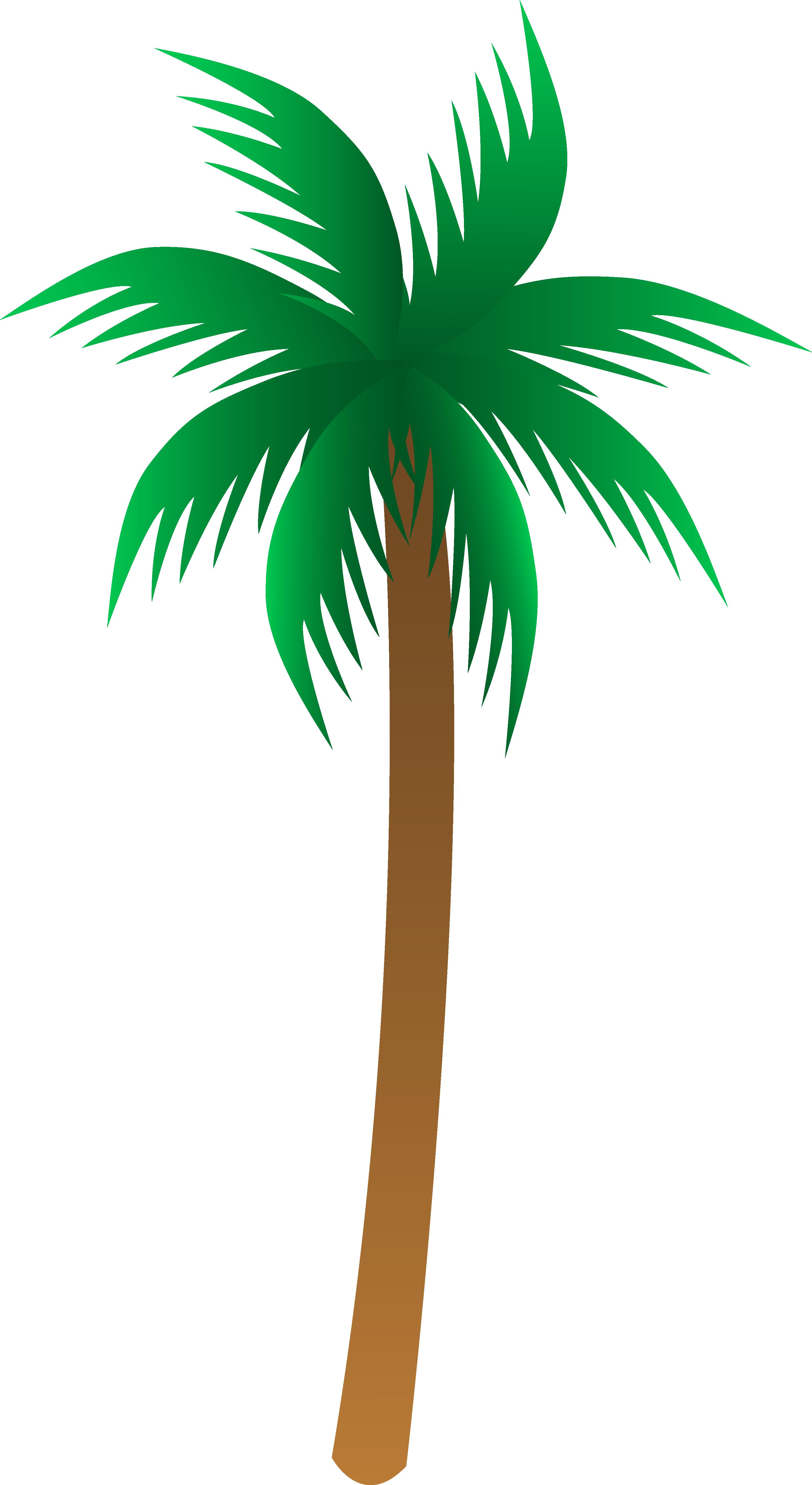 3182x5819 Simple Palm Tree Vector